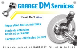 Sponsor garage DM Services Montbert